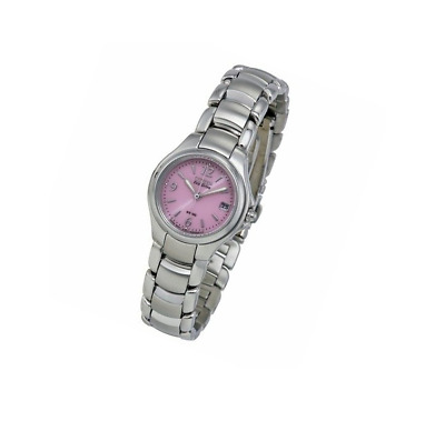 *BRAND NEW* Citizen Men's Eco-Drive Pink Dial Stainless Steel Watch EW1170-51X