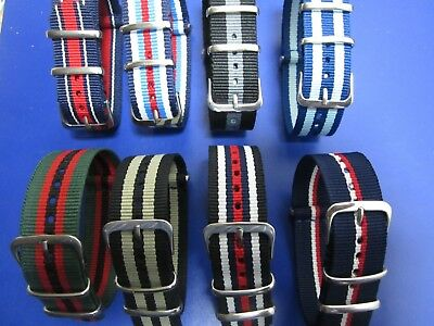 20mm -  Nato Strap Correa Reloj Nylon Pulsera Watch band