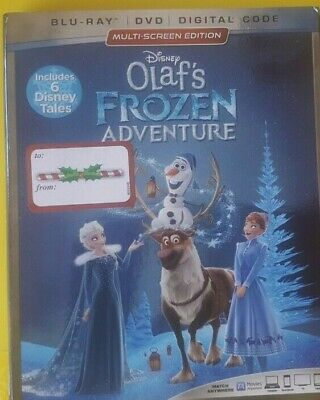 OLAF'S FROZEN ADVENTURE (Inclds 6 Disney Tales) (Blu Ray/DVD + Digital) w/ SLIP