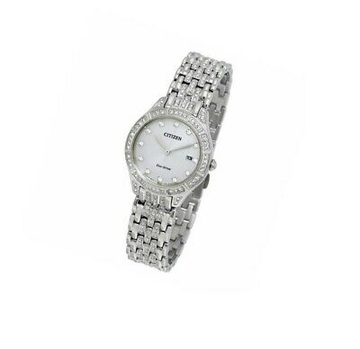 *BRAND NEW* Citizen Women's Eco-Drive Crystal Stainless Steel Watch EW2320-55A