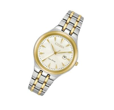 *BRAND NEW* Citizen Women's Eco-Drive Two Tone Stainless Steel  Watch EW2494-54A