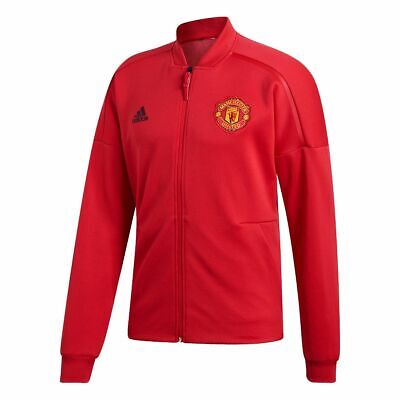 adidas Manchester United Z.N.E. Soccer Jacket Real Red Black CW7670 XL Men's