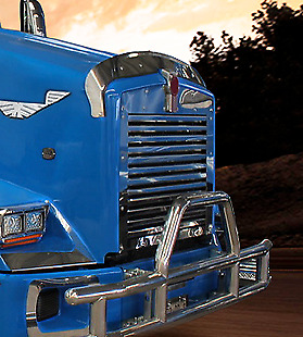 Kenworth T800 Replacement Grill with 12 Horizontal Bars, 1995 & Newer #  15018