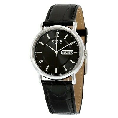 *BRAND NEW* Citizen Men's Eco-Drive Black Leather Steel Case Watch BM8240-03E