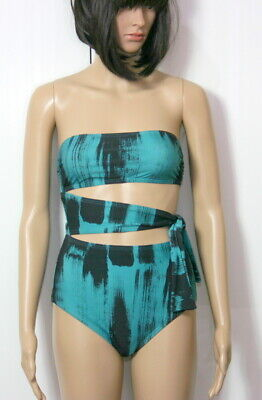 57ec95cbcc Proenza Schouler Paint Brush One-Piece Bandeau w/ Side Tie Green Size Small