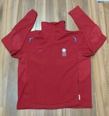 online store 4a49c 47d92 Nike 2006 US Olympic Team Torino Collection Fleece Red 1 2 Zip MENS XL