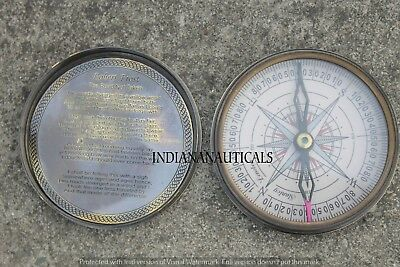Marine Collectible Nautical Poem Compass Working Navy Navigation replica Item.