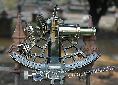Maritime Solid Brass Working Sextant Handmade Vintage Marine Sextant  Decor Item