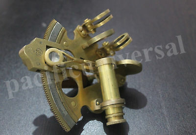 Brass Sextant Antique Vintage Collectible Navy Navigation Gift/ Decor