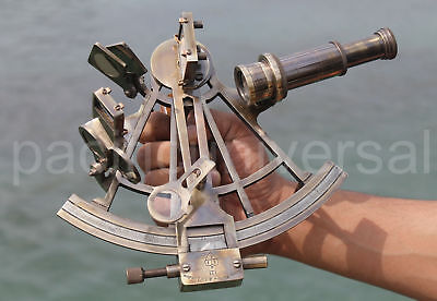 Solid Brass Sextant Astrolabe Collectible Ship Instrument Handmade Replica Item.