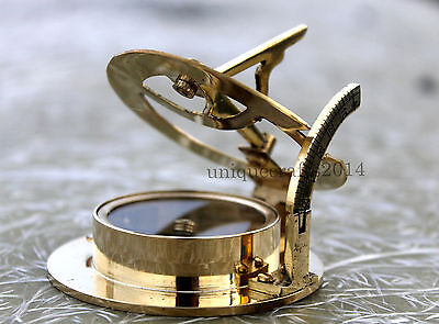 Nautical Solid Brass West London Compass Maritime Vintage Handmade Decor Gift.