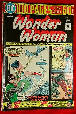 Wonder Woman #214 1974 Vf/nm 100 Pages For Only 60 Cents Dc Comics Nov 30725