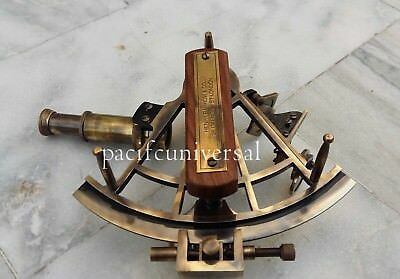 "Antique Design Marine Collectible Brass Sextant Working Astrolabe Royal Item 8""."