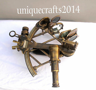 Heavy Brass Nautical Maritime Collectible  Sextant Astrolabe Ship Working Item.