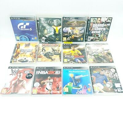 Lot de 12 Jeux PS3 - GTA 4, Gran Turismo 6, Saints Row 2, Fifa street, etc..