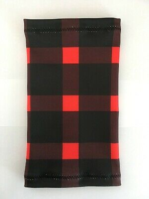 Lycra PICC Line or Freestyle Libre Cover - Black & Red Check