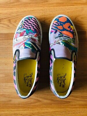 b64b19cce7 The Beatles Vans Sea Of Monster Yellow Submarine Men 9.5 Women 11 Canvas  Shoes
