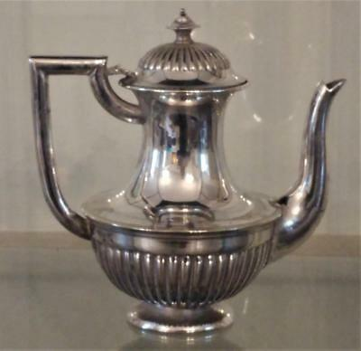 Fine Antique Mappin & Webb Silver Plated  Gadrooned Bachelor Coffee Pot C 1863+