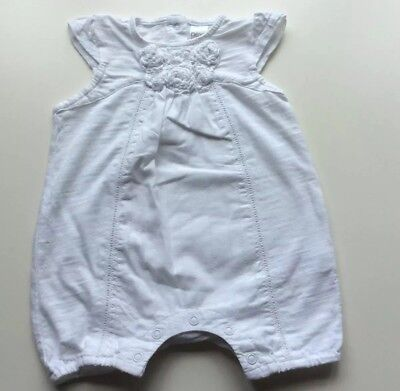 Baby Girls White Next Summer All-In-One Outfit, Age 0-3, Vgc