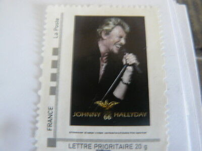 Enveloppe timbrée Johnny Hallyday collector