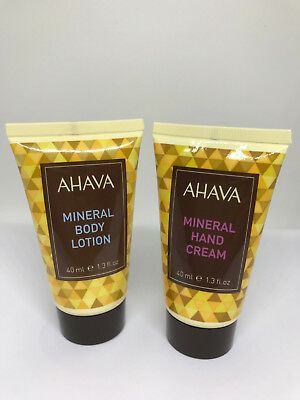 Exclusive! AHAVA Mineral Hand Cream and Body Lotion Mini 40ml – 1.3 fl.oz