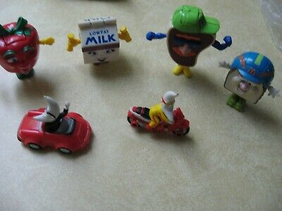 Set of 6 McDonalds 1993 Transforming Happy Meal Toys: (4) PLUS 2 OTHERS