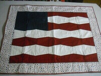QUILT red, white and blue with star borders