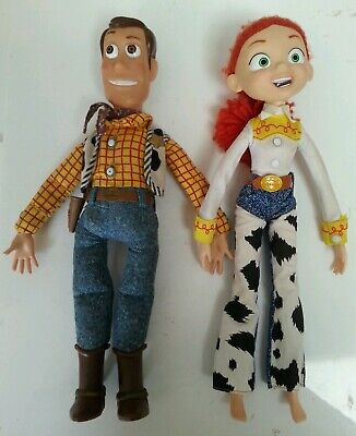 "TOY STORY - Walt Disney Pixar's Woody & Jesse 11"" X2 Rare Toy Dolls Collection"
