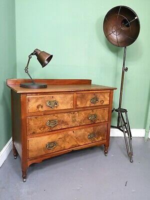 An Antique Edwardian Burr Walnut Chest of Drawers ~Delivery Available~