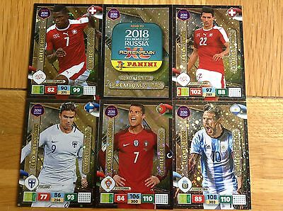 Panini Adrenalyn XL Road to Russia 2018 Various Limited Edition cards