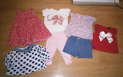 Baby girls lovely clothes bundle age 6-9 months.