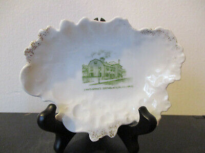 Circa 1910 Souvenir Porcelain Dish Hawthornes Birthplace Salem Massachusetts *