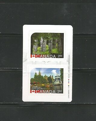 Booklet Block   #2743- 44  Unesco Heritage Sites  Canada  * 1