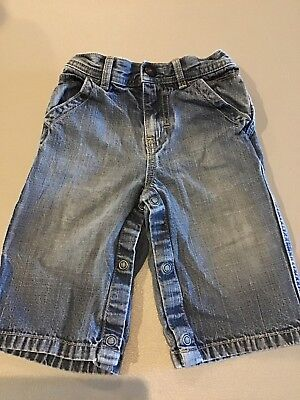 Boys Tommy Hilfiger Jeans, Size 3-6 Months.   Snap Crotch.   Fast, Free Shipping