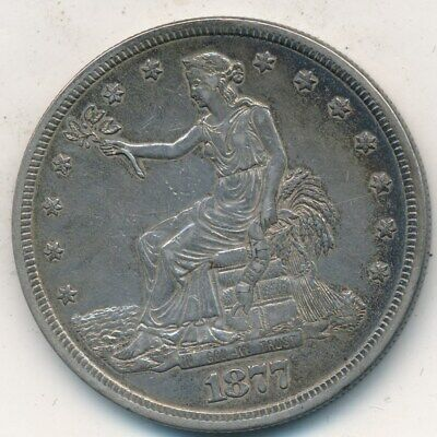 1877-S Trade Silver Dollar-Very Nice Gently Circulated Trade $-Free S/H! Inv:2