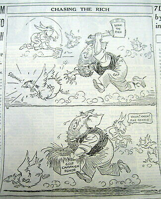 1932 Chicago newspaper w political cartoon showing REPUBLICAN PARTY as HYPOCRITS