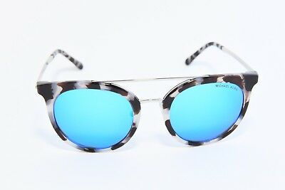 6669478d328e Michael Kors Mk2056 Ila Double Bridge Sunglasses 327525 Snow Leopard/Cobalt  Mirr