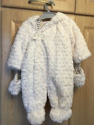 John Lewis all-in-one baby furry bear snowsuit, 3-6 months