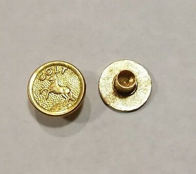 NEW COLT 1911 Gold Pistol Grip Medallions Compatible with all Colt Grips