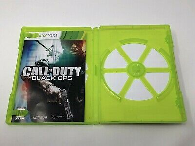 Call of Duty Black Ops Microsoft Xbox 360 Original CASE & MANUAL ONLY NO DISC