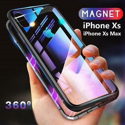 For Iphone XR XS New Magnetic Adsorption Slim Shockproof Clear Back Case Cover