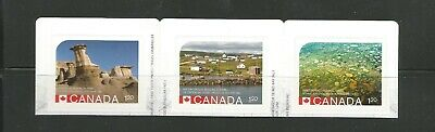 Booklet Strip   #2845 - 2847  Unesco Heritage Sites Canada * 1 Recalled