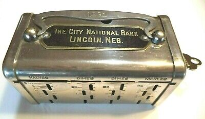 Bankers Service $5.00 Gold Slot  City National Bank Lincoln, Neb.  # 1291  1 Key