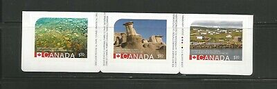 Booklet Strip   #2845 - 2847  Unesco Heritage Sites Canada * 2 Recalled