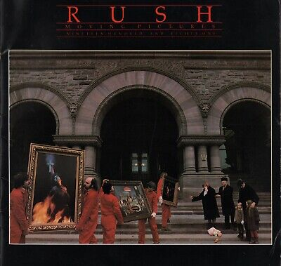 Rush 1981 Moving Pictures Tour Concert Program Book Booklet Neil Peart / Vg 2 Ex