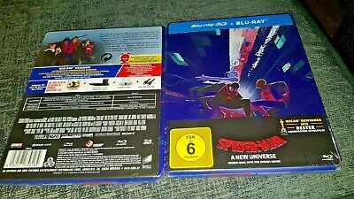 Spider-Man Into The Spider-Verse 3D + 2D Blu-Ray Exclusive Steelbook New PreSale