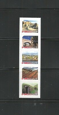 BOOKLET STRIP     UNESCO HERITAGE SITES CANADA    # 2968ai
