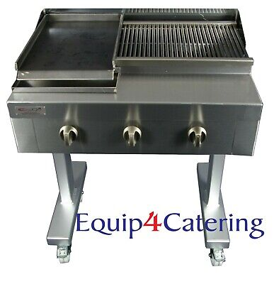 3 Burner Gas Charcoal Chargrill Bbq Heavy Duty Commercial Use (On Stand)