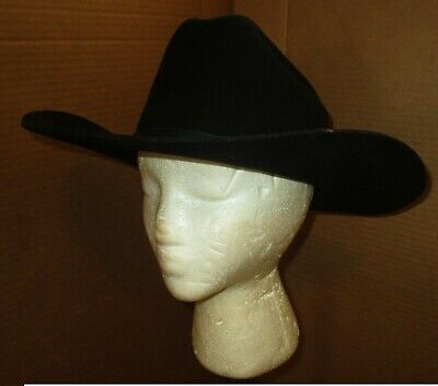 3f4937414b0 EDDY BROS. BLACK WOOL COWBOY HAT Collectible Western Ware Design ...
