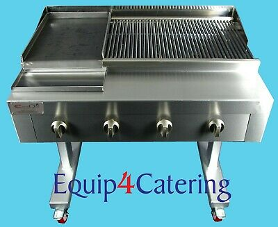 4 Burner Gas Charcoal Char Grill Bbq Heavy Duty For Commercial Use (On Stand)